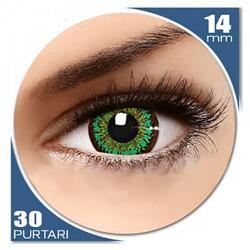 ColorNova Green - lentile de contact colorate verzi trimestriale - 30 purtari (2 lentile/cutie)
