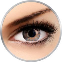 Edit Chocolate Brown - lentile de contact colorate albastre trimestriale - 90 purtari (2 lentile/cutie)