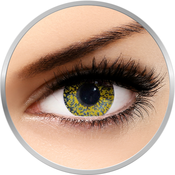 Edit Glimmer Gold - lentile de contact colorate galbene trimestriale - 90 purtari (2 lentile/cutie)