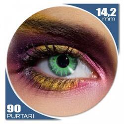 Edit Solar Green - lentile de contact colorate verzi trimestriale - 90 purtari (2 lentile/cutie)