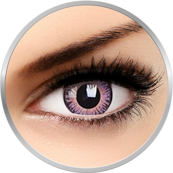 ColourVUE 3 Tones Violet - lentile de contact colorate violet trimestriale - 90 purtari (2 lentile/cutie)