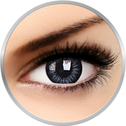 Big eyes Evening Grey - lentile de contact colorate gri trimestriale - 90 purtari (2 lentile/cutie)