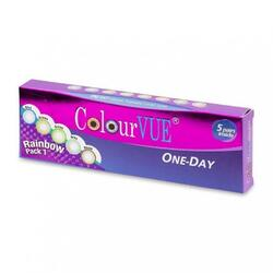 ColourVue Rainbow Pack 1 - lentile de contact colorate multicolore zilnice - 5 purtari (10 lentile/cutie)