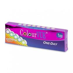 ColourVue Rainbow Pack 2 - lentile de contact colorate multicolore zilnice - 5 purtari (10 lentile/cutie)
