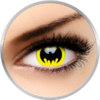 ColourVUE Crazy Bat Crusader - lentile de contact colorate galbene anuale - 360 purtari (2 lentile/cutie)