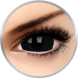 Crazy Black Titan - lentile de contact colorate negre anuale - 360 purtari (2 lentile/cutie)