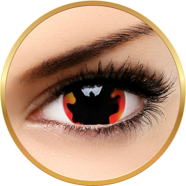 ColourVUE Crazy Blackhole Sun - lentile de contact colorate rosii anuale - 360 purtari (2 lentile/cutie)