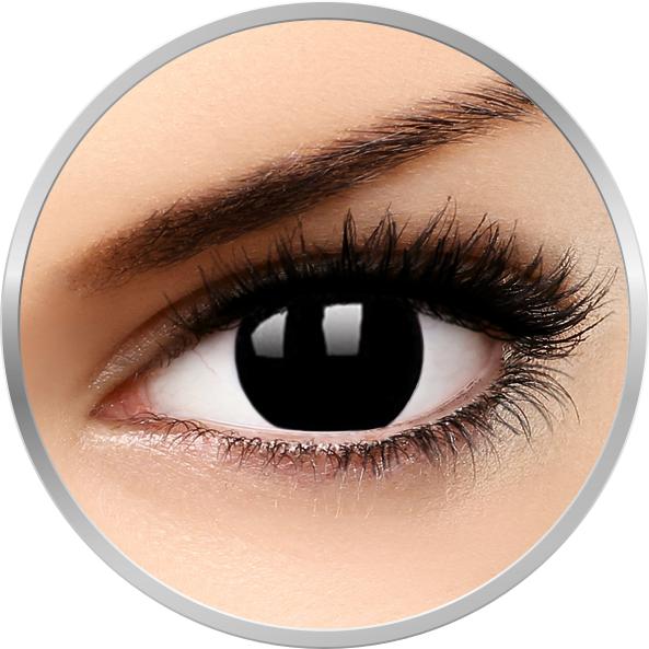 ColourVUE Crazy Blackout - lentile de contact colorate negre anuale - 90 purtari (2 lentile/cutie)