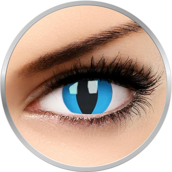 ColourVUE Crazy Cheshire Cat - lentile de contact colorate albastre anuale - 360 purtari (2 lentile/cutie)