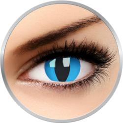 Crazy Cheshire Cat - lentile de contact colorate albastre anuale - 360 purtari (2 lentile/cutie)