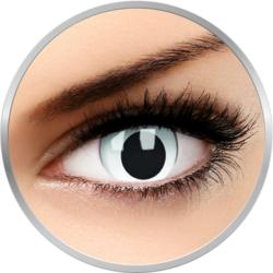 Crazy Cross Eyed - lentile de contact colorate albe anuale - 360 purtari (2 lentile/cutie)