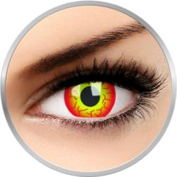 Crazy Darth Maul - lentile de contact colorate rosii anuale - 360 purtari (2 lentile/cutie)