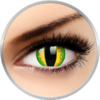 ColourVUE Crazy Green Dragon - lentile de contact colorate galbene anuale - 360 purtari (2 lentile/cutie)