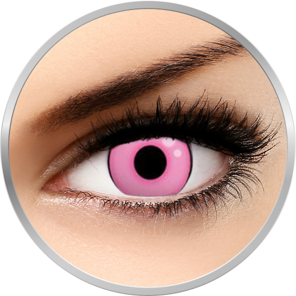 ColourVUE Crazy Hot Pink - lentile de contact colorate roz anuale - 360 purtari (2 lentile/cutie)