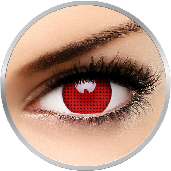 ColourVUE Crazy Red Screen - lentile de contact colorate rosii anuale - 360 purtari (2 lentile/cutie)