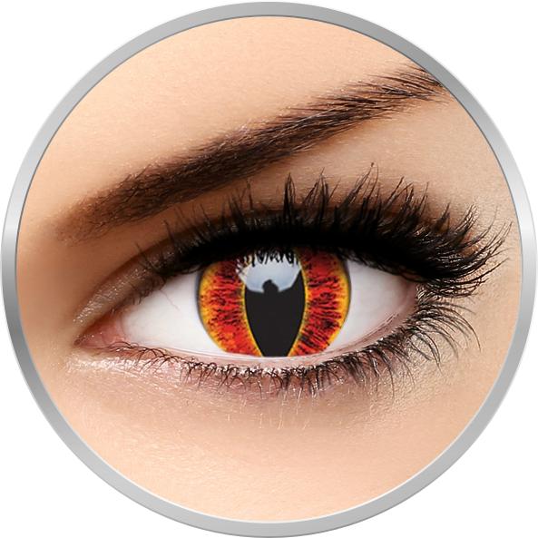 ColourVUE Crazy Sauron's Eye - lentile de contact colorate rosii anuale - 360 purtari (2 lentile/cutie)
