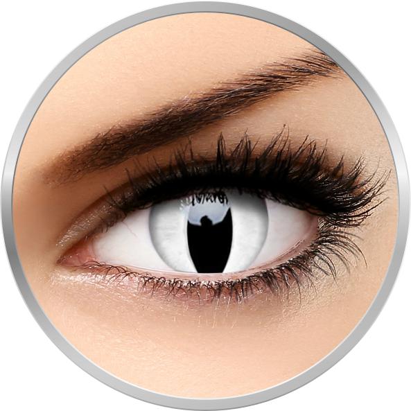 ColourVUE Crazy Viper - lentile de contact colorate albe anuale - 360 purtari (2 lentile/cutie)