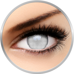 Crazy White Screen - lentile de contact colorate albe anuale - 360 purtari (2 lentile/cutie)