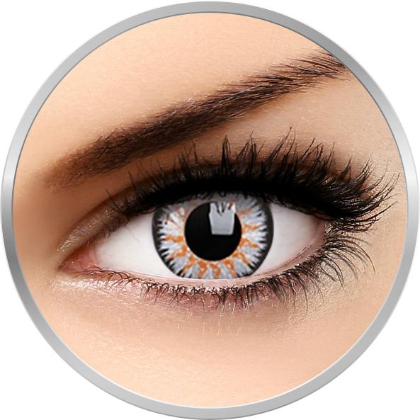 ColourVUE Glamour Grey - lentile de contact colorate gri trimestriale - 90 purtari (2 lentile/cutie)