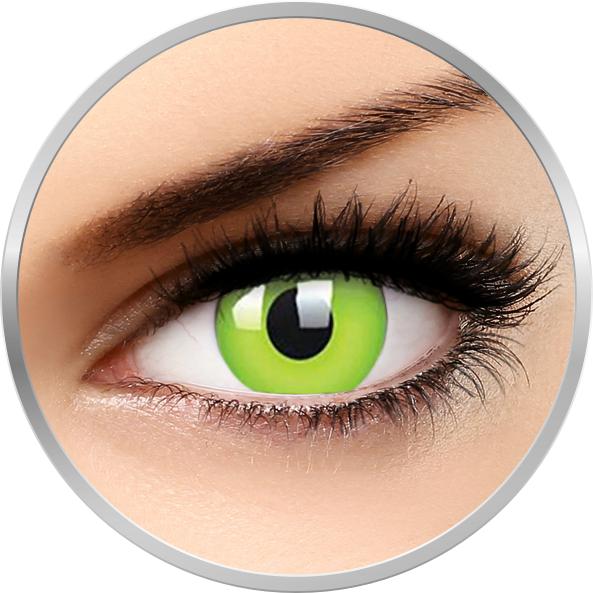 ColourVUE Glow Green - lentile de contact colorate Crazy verzi anuale - 360 purtari (2 lentile/cutie)