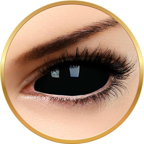 ColourVUE Sclera Sabretooth - lentile de contact colorate Crazy negre anuale - 185 purtari (2 lentile/cutie)