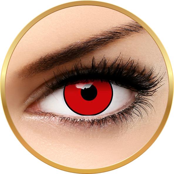 Auva Vision Crazy Halloween Red Manson - lentile de contact pentru Halloween anuale - 365 purtari (2 lentile/cutie)