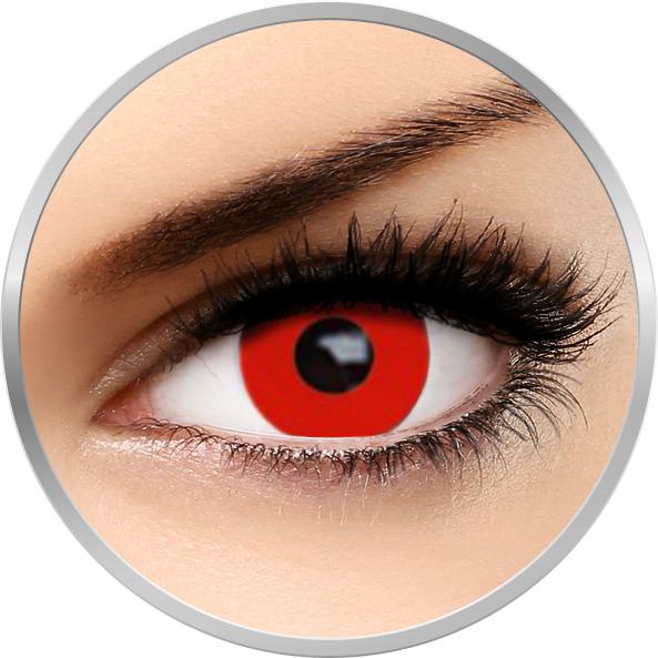 Auva Vision Fantaisie Red Out - lentile de contact Crazy pentru Halloween anuale - 365 purtari (2 lentile/cutie)