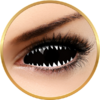 Auva Vision Fantaisie Sclera 019 Jaws White - lentile de contact Crazy pentru Halloween anuale - 365 purtari (2 lentile/cutie)