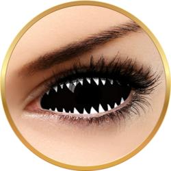 Fantaisie Sclera 019 Jaws White - lentile de contact Crazy pentru Halloween anuale - 365 purtari (2 lentile/cutie)