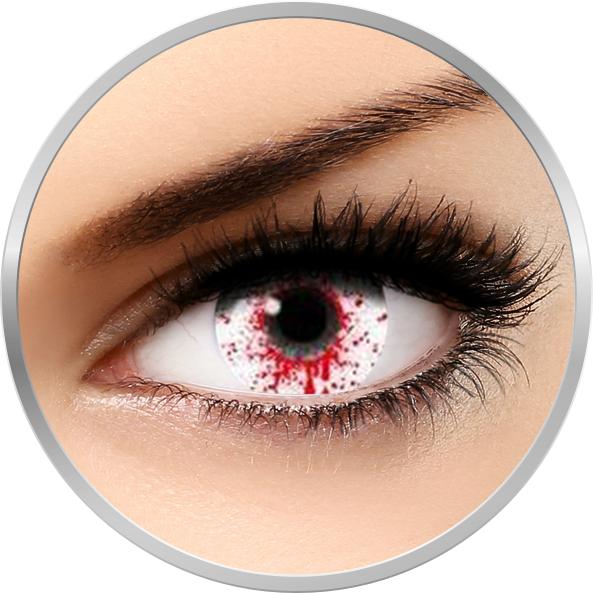 Auva Vision Fantaisie Splash Blood - lentile de contact Crazy pentru Halloween anuale - 365 purtari (2 lentile/cutie)