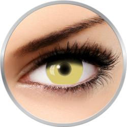 Fantaisie UV Glow Yellow - lentile de contact Crazy pentru Halloween anuale - 365 purtari (2 lentile/cutie)
