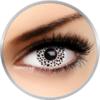 Auva Vision Fantaisie White Cheetah - lentile de contact Crazy pentru Halloween anuale - 365 purtari (2 lentile/cutie)