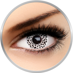 Fantaisie White Cheetah - lentile de contact Crazy pentru Halloween anuale - 365 purtari (2 lentile/cutie)