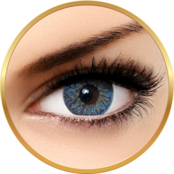 Bella Natural Looking Lenses Blue - lentile de contact colorate albastre trimestriale - 90 purtari (2 lentile/cutie)
