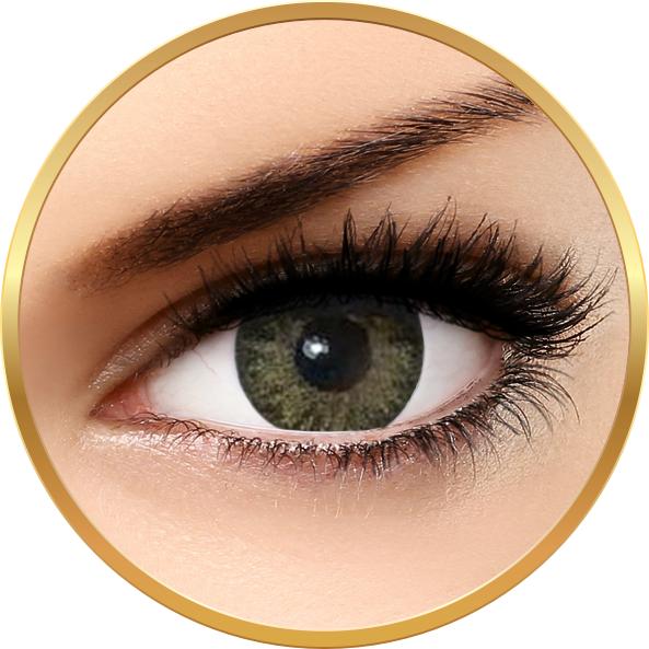 Bella Natural Looking Lenses Natural Green Yellow - lentile de contact colorate verzi trimestriale - 90 purtari (2 lentile/cutie)