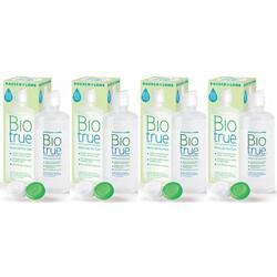 Solutie intretinere lentile de contact Biotrue 4 x 300 ml + suport lentile cadou