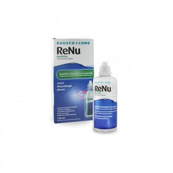 Bausch & Lomb Solutie intretinere lentile de contact Renu Multi-Purpose 120 ml + suport lentile cadou