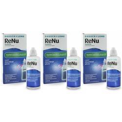 Solutie intretinere lentile de contact Renu Multi-Purpose 3 x 120 ml + suport lentile cadou