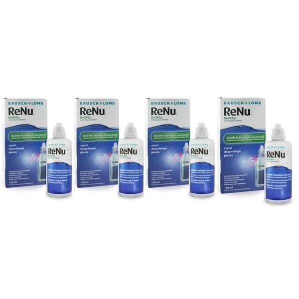 Bausch & Lomb Solutie intretinere lentile de contact Renu Multi-Purpose 4 x 120 ml + suport lentile cadou
