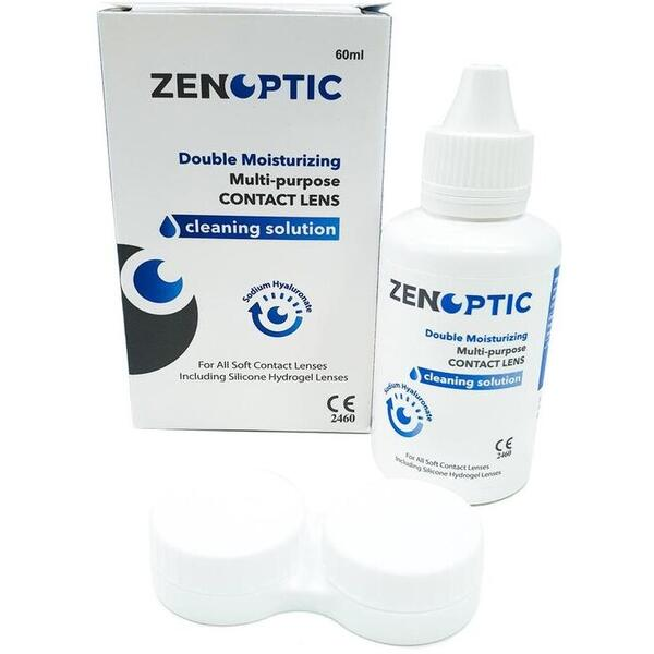 Solutie de curatare si intretinere lentile de contact ZENOPTIC Double Moisturizing 60 ml